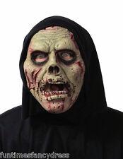 Halloween Soft Flexi Foam Hooded Zombie Brain Eater Mask Flexible Fancy Dress
