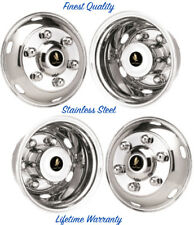 "16"" GMC W4 6 LUG WHEEL SIMULATOR RIM LINERS, STAINLESS HUBCAP COVERS SET OF 4 ©"