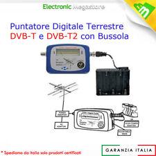PUNTATORE MISURATORE DI CAMPO SEGNALE ANTENNA DIGITALE TERRESTRE FINDER DVB-T