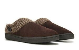 Clarks Women's Brown Suede Slip On Low Top Comfort Flat Mule Slipper Size US 7 M