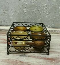 Square Candlestick Metal with Glass 4 Tea Light Holder