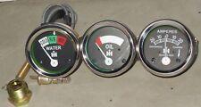 IH Farmall Temp+Oil+Amp Gauge H, I4,I6,I9, M,O4,OS4,O6,OS6, TD6,W6, W9,WD9