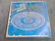 "Vintage Diamond Point 12"" hostess plate platter serving tray crystal glass home"