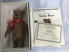R. John Wright 1998 Brown Teddy Bear Collectors Club W/Coa 299 of 2500 Mib