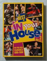 WWE: The Best of WWE In Your HOUSE (DVD, 2013,3-Disc Set) Great Condition PreOwn