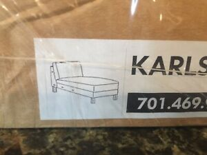 IKEA KARLSTAD Free Standing Chaise Lounge Cover Slipcover Korndal Green New