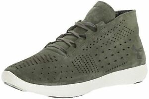 Under Armour Women's Shoe Olive Street Precision Mid Luxe Suede Ankle 6-9.5 NEW