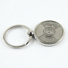 Metal Key Chain Ring 50 Years Perpetual Calendar Keyring Super Perpetual Unique