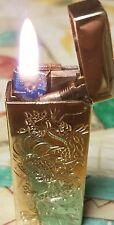 "DUNHILL 14K GOLD ""DRAGON"" CIGARETTE LIGHTER."