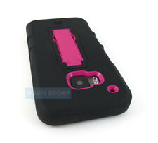 FOR HTC ONE M9 2015 BLACK PINK V2 IMPACT SHOCK PROOF PHONE CASE STAND COVER
