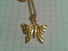 """ENAMEL GOLDEN PLATED ALLOY """" BUTTERFLY"""" PENDANT ON 18""""INCH NECKLACE CHAIN"""