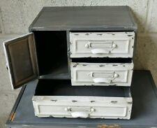 Industrial 3 Drawer Metal Cabinet Storage Cupboard Vintage Retro Style Small