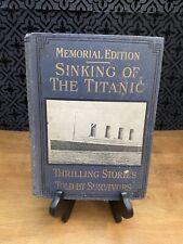 New listing Jay Henry Mowbray Memorial Edition Sinking Titanic Thrill Stories Survivors Ex