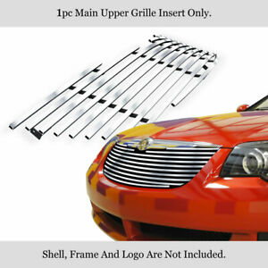 Fits 2004-2008 Chrysler Crossfire Stainless Steel Billet Grille Grill Insert
