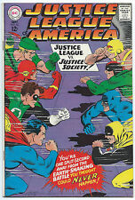 JUSTICE LEAGUE OF AMERICA #56 Sep 1967 VF- 7.5 OWW JUSTICE SOCIETY App DC Comics