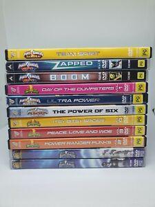 Power Rangers Dvd Region 4 Kids Children's classic TV show Lot Set Large Bundle