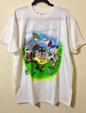 Vintage Looney Tunes 1994 Warner Bros Size Large Front And Back Print White New