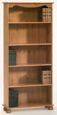 Steens Richmond Solid Pine Large Bookcase 4 Shelves & Real T&G Back