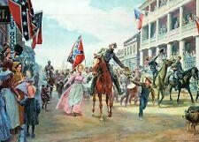 General Stonewall Jackson Enters Winchester Virginia Military Civil War Postcard