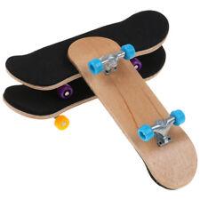 Complete Wooden Fingerboard Finger Skate Board Grit Box Foam Tape Maple Gift