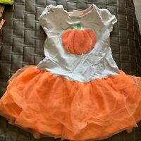 Gymboree girls size 2t fall pumpkin dress