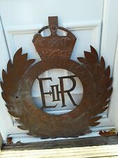 A Substantial Hand Made Copper Sign To A Military Establishment