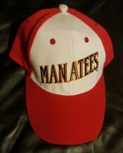 Brevard County Manatees (retired) Baseball Cap Hat white/red Embroidered