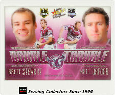 2009 Select NRL Champions Double Trouble Acetate Card DT2 Stewart / Orford-Rare