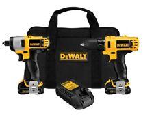 DeWALT DCK211S2 12V MAX* Lithium Ion Drill / Impact Combo Tool Kit - USA made