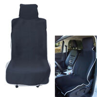 Black Car Seat Cover Throw Over Slip on Waterproof Neoprene Protecor Van Front