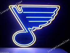 New St Louis Blues Hockey Real Glass handcrafted Neon Light Beer Bar Pub Sign