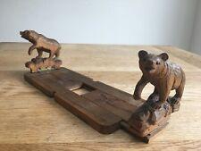 Black Forest bear sliding book stand