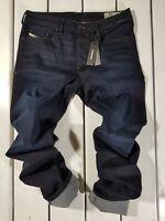 New Diesel Men's Jeans Buster R46D8 Regular Slim Tapered Blue Ink