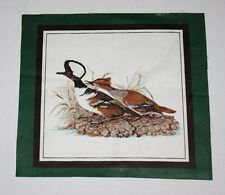 Lot of 8 DUCK Fabric Panels Squares - 4 different panel pictures (2 of each)