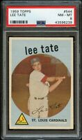 1959 Topps BB Card #544 Lee Tate St. Louis Cardinals ROOKIE CARD PSA NM-MT 8 !!!