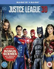Justice League 3D + 2D Blu-Ray with slipcover IMPORT BRAND NEW Free Shipping