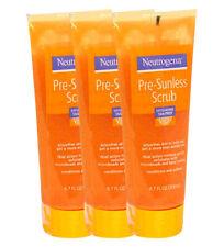 3 Pack Neutrogena Dual Action Pre-Sunless Scrub Exfoliating Tan Prep 6.7 oz.