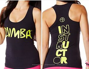 ZUMBA INSTRUCTOR Rock With Me RacerBack Top Shirt Tank Tee -fr.Convention RARE!