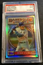 1993 TOPPS FINEST REFRACTOR ROOKIE #199 MIKE PIAZZA PSA 9 CENTERED DODGERS