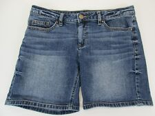 *LAUREN CONRAD* SIZE 6 WOMEN'S BLUE STRETCHY 99% COTTON DENIM SHORTS