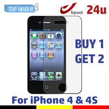 2 FOR 1 Screen Protector 9H LCD Protecteur iPhone 4/4S Real Tempered Glass Film