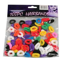 Lot de 100 élastiques à cheveux multicolores chouchou enfant filles