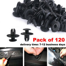 15x13x 6mm Push in Type Plastic Rivets Fastener Black Push Pin Clips Clip 120PCS
