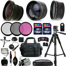 Canon EOS 6D - Deluxe 28 Piece Accessory Kit w/ 3 Lenses +24GB Mmry +MORE
