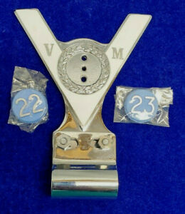 Company of Veteran Motorist VM Desmo Car Badge British 22 & 23 Yr Vintage 1960s