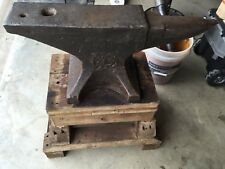 200 Lb. FISHER & NORRIS EAGLE  ANVIL,  NICE CONDITION, 1892, 126 Yrs Old !!
