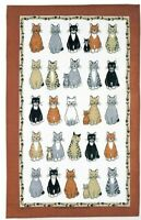 Cats Arrived Linen Tea Towel from Ulster Weavers