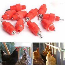 5Pcs Fowl Water Nipple Drinker Chicken Feeder Poultry Hen Bird Screw In Style