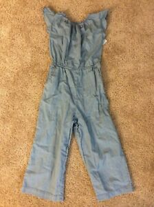 Girls' 7/8 Woven Denim Short Sleeve Jumpsuit -by Cat & Jack-NEW WITH TAGS!