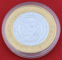 Casino Strike $10 The Great Seal Of The State Of Nevada Bally's 777 Silver